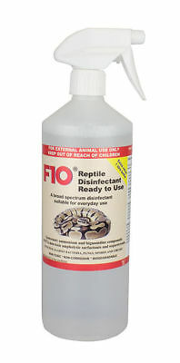 F10 Reptile Ready to Use Disinfectant 1 Litre Trigger Terrariums Cleaner