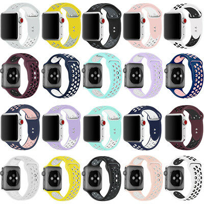 Replacement Silicone For Apple Watch 1/2/3/4 iWatch Sport Band Strap 40mm 44mm