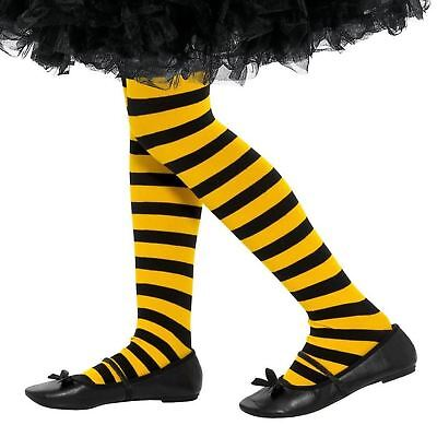 8-12 Years Bumble Bee Fancy Dress Yellow Black Girl Kids Striped Tights Bug Wasp