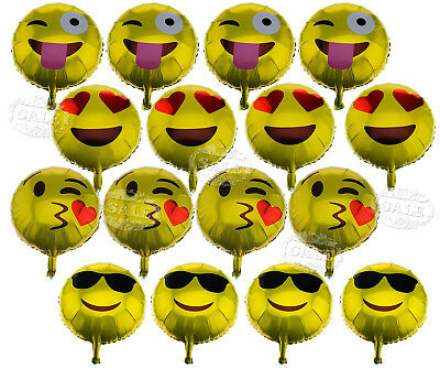 16Pcs Emoji Latex Ballons Yellow Party Smiley Face Emotion Brithday Party Decor