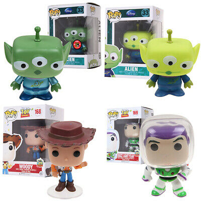 Funko Pop! Pixar Toy Story Alien Woody Buzz Lightyear Vinyl Action Figure In Box