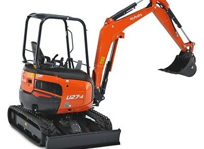 2.7 Tonne KUBOTA U27-4 Mini Excavator Hire $300 a Day - Delivery Available