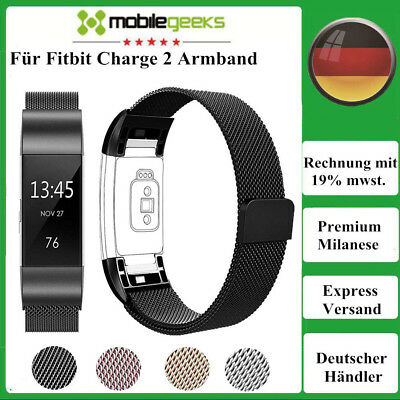 Fitbit Charge 2 Armband Edelstahl Ersatz Band Replacement Fitness Tracker