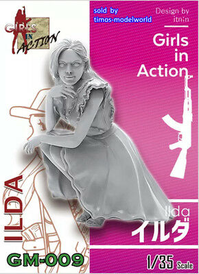 ZLPLA Genuine 1/35 Resin Figure ILDA Girls in Action Assembly Model Kit GM-009