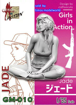 ZLPLA Genuine 1/35 Jade Girls in Action Resin Figure Assembly Model Kit GM-010