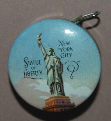 Nice Vintage Statue Of Liberty & Rockefeller Center Cloth Tape Sewing Measure