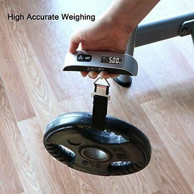 Portable Digital Fish or Luggage Scale LCD Display Travel  Weight 110lb/50kg USA