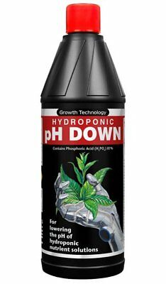 Growth Technology pH Down 1L Hydroponic Adjustment Solution