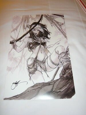 2018 SDCC SAVAGE LAND ROGUE ART PRINT SIGN BY ERIC EBAS BASALDUA 11x17