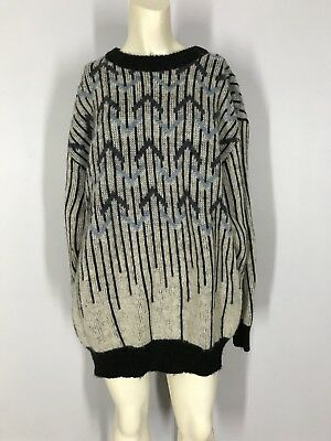 vtg 80s ALAFOSS ICEWOOL Fuzzy Wool ICELAND Pullover KNIT Knitted ICE SWEATER L