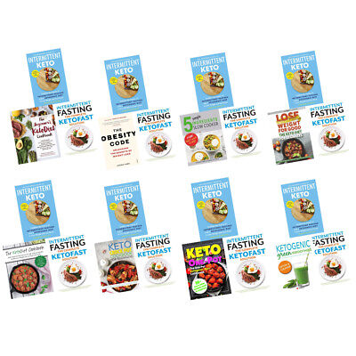 KetoDiet Books Collection Set Intermittent Fasting Fast weight loss Green Smooth
