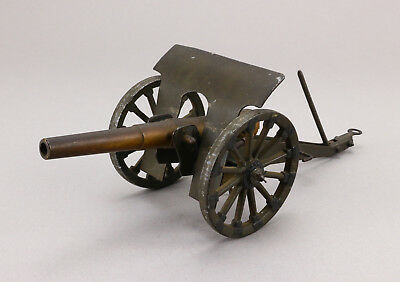 Alte Blech Messing Kanone 25 cm Model field gun canon ancien