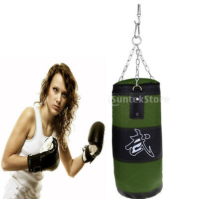 Boxing Bags 80cm Punching Boxing Sandbag Training Set with Chains Hook