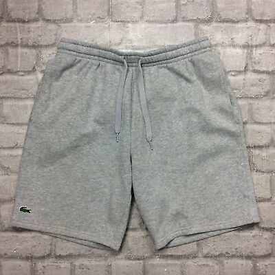 16a9b2fbe708fc Lacoste Sport Mens Uk L Fr 5 Grey Fleece Shorts Gym Sportswear Activewear  Sport