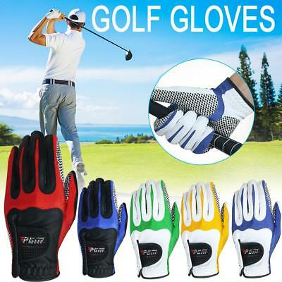 Mens Golf Gloves Anti-skid Particles Microfiber Left Hand Golf Gloves Breathable