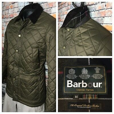 Barbour Canterbury Quilted Jacket Olive Green Mens Size Medium $300