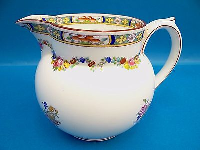 Antique Old Made in England English White Floral Mintons Large Creamer Used