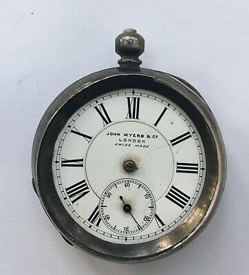 Antique Silver Pocket Watch, John Myers & Co, Spares, Repair.
