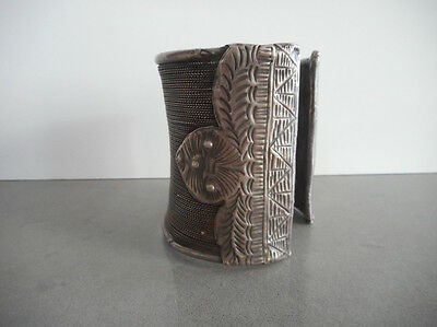 Fine Large Old Silver Akha People or Hill Tribe Cuff Laos SE Asia