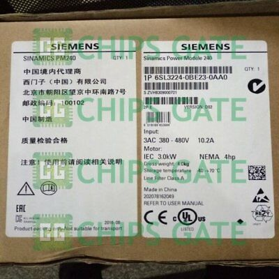 1PCS NEW IN BOX Siemens 6SL3224-0BE23-0AA0 Fast ship with warranty