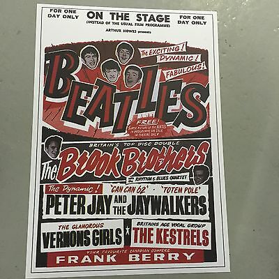 The Beatles - Concert Poster For One Day Only - On The Stage  (A3 Size)