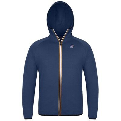 Felpa K-Way Junior Le Vrai Victor Cappuccio + Zip Blu