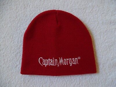 Euc Captain Morgan Red Knit Hat Beanie - One Size Fits All