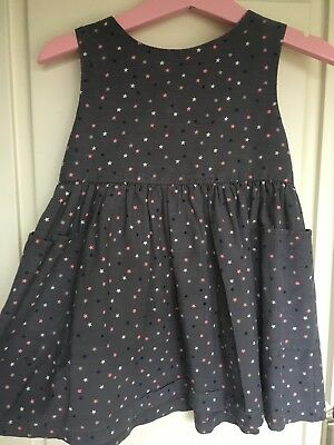 NEXT Baby girls dress 12-18 months bunny navy short sleeve pretty