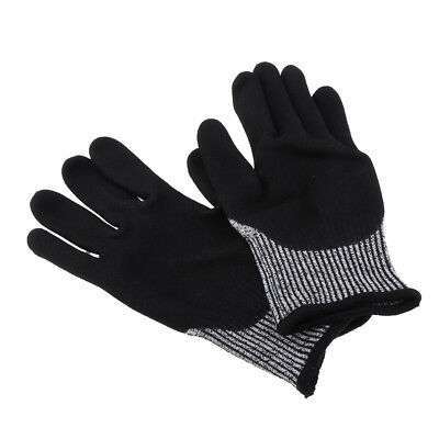 Safety Level 5 Cut Proof Stab Resistant Polyester Mesh Work Butcher Glove S