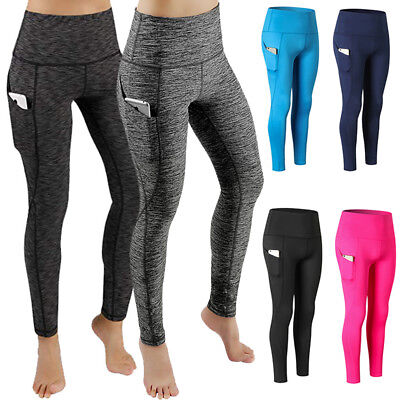 Womens Sports Yoga Leggings Workout Gym Fitness Stretch Pants with Pocket C125