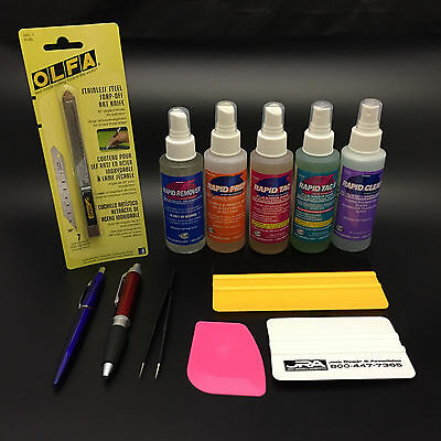 RAPID TAC 12 pc.DELUXE VINYL INSTALL KIT - EVERYTHING YOU NEED TO INSTALL VINYL