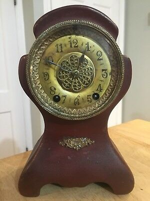 Antique 1891 Waterbury Mantle Clock For Parts or Repair