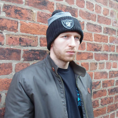 Oakland Raiders Licenced NFL Pom Knit Hat