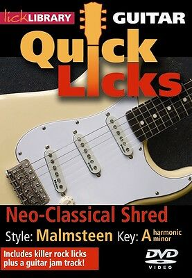 YNGWIE MALMSTEEN Style GUITAR QUICK LICKS Video DVD Lessons With Andy James