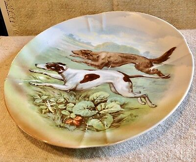 Borzoi Russian Wolfhound Running With Greyhound - Designer Plate - Germany