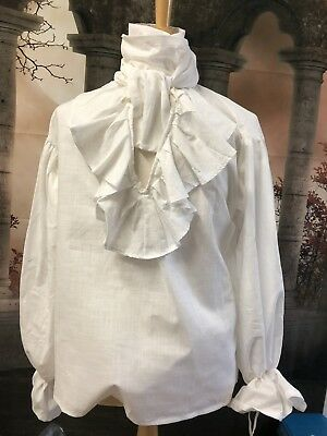 Georgian/ Regency Ivory Linen Jabot Shirt.