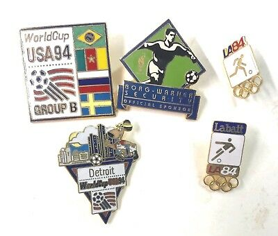 1994 World Cup USA And Others Soccer Five (5) Pins Lot4