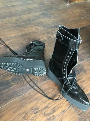 Gothic vinyl platform boots cosplay made in England