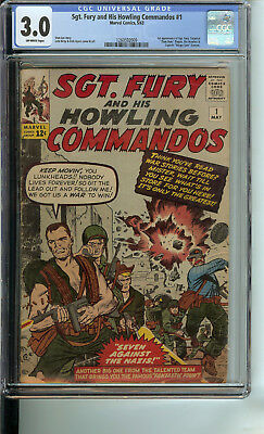 Sgt. Fury and His Howling Commandos 1 CGC 3.0 OWP
