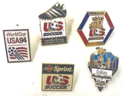 1994 World Cup USA And Others Soccer Five (5) Pins Lot8