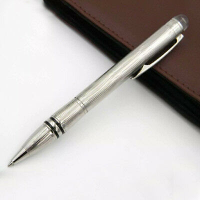 Classic MB Pen Ballpoint Silver Metallic Business Office Gift High Quality