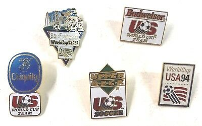 1994 World Cup USA And Others Soccer Five (5) Pins Lot14
