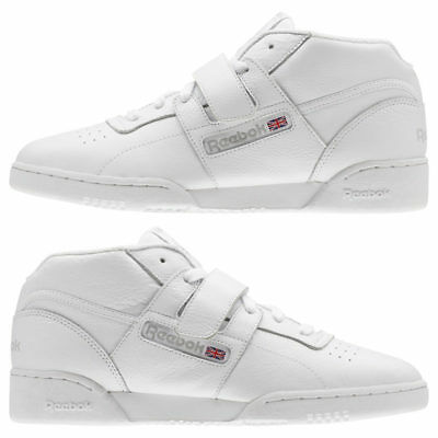 Men's Reebok Workout Clean Mid Strap Athletic Training Shoes