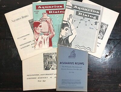 AQUARIUS RISING - LOT of VINTAGE MAGAZINES JOURNALS, 1950s-60s, ASTROLOGY OCCULT