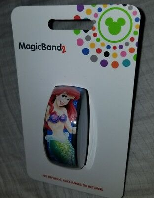 NEW Disney Parks Ariel The Little Mermaid Blue Magic Band 2 LINK IT LATER