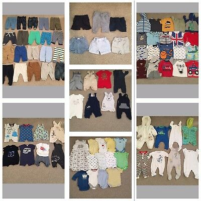 Huge Baby Boys Age 0/3 Months Clothes Bundle 83 Items Disney Adidas Junior J (1)