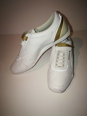 New Reebok Classic Womans Ladies Active White Leather Trainers Sport Shoes UK 6