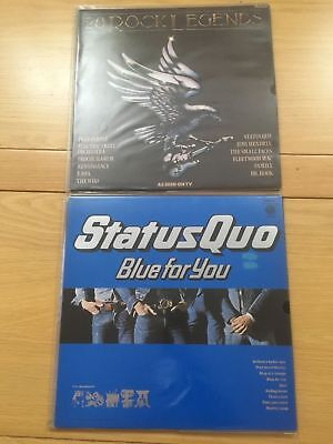20 Rock Legends Various Vinyl Record incl Status Quo + Blue For You x2 Records