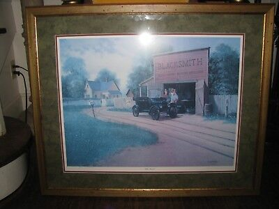 GOLDEN MEMORIES  by CHARLES SUMMEY SIGNED/NUMBERED FRAMED ARTIST PROOF PRINT