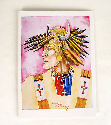 Native American 10 Greeting Cards Doug Three Buffalos Blank Inside + Envelopes,